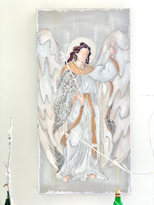15x30 Silver Guardian Angel of NOLA