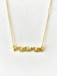 Cursive MAMA Necklace
