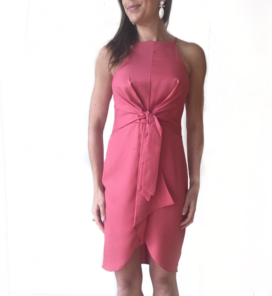 MR Mauve Knotted Front Dress