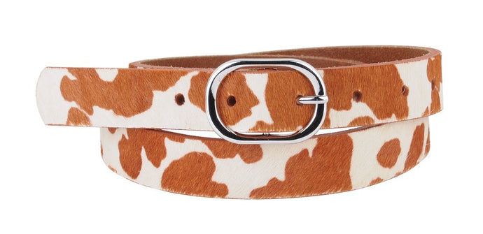 Wild Calf Skin Leather Belt