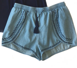MR Woven Short Mid Blue