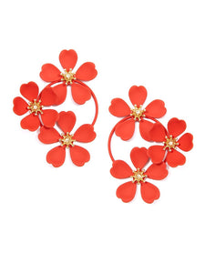 3 Flower Statement Earrings
