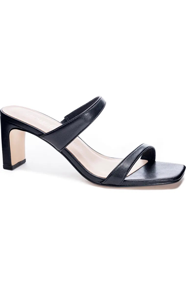 Black Yanti Slide Sandal