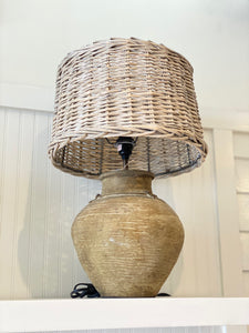 Brown Rattan Lamp