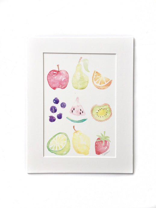 Watercolor Fruit Print
