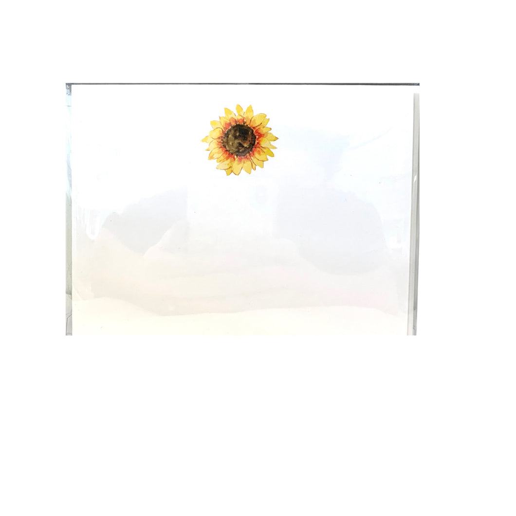 Sunflower 8 Flat Cards w/ Envelopes