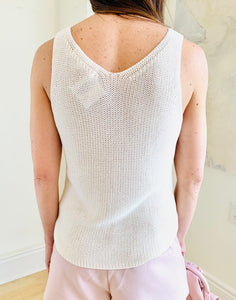 Ivory Solid Sweater Tank