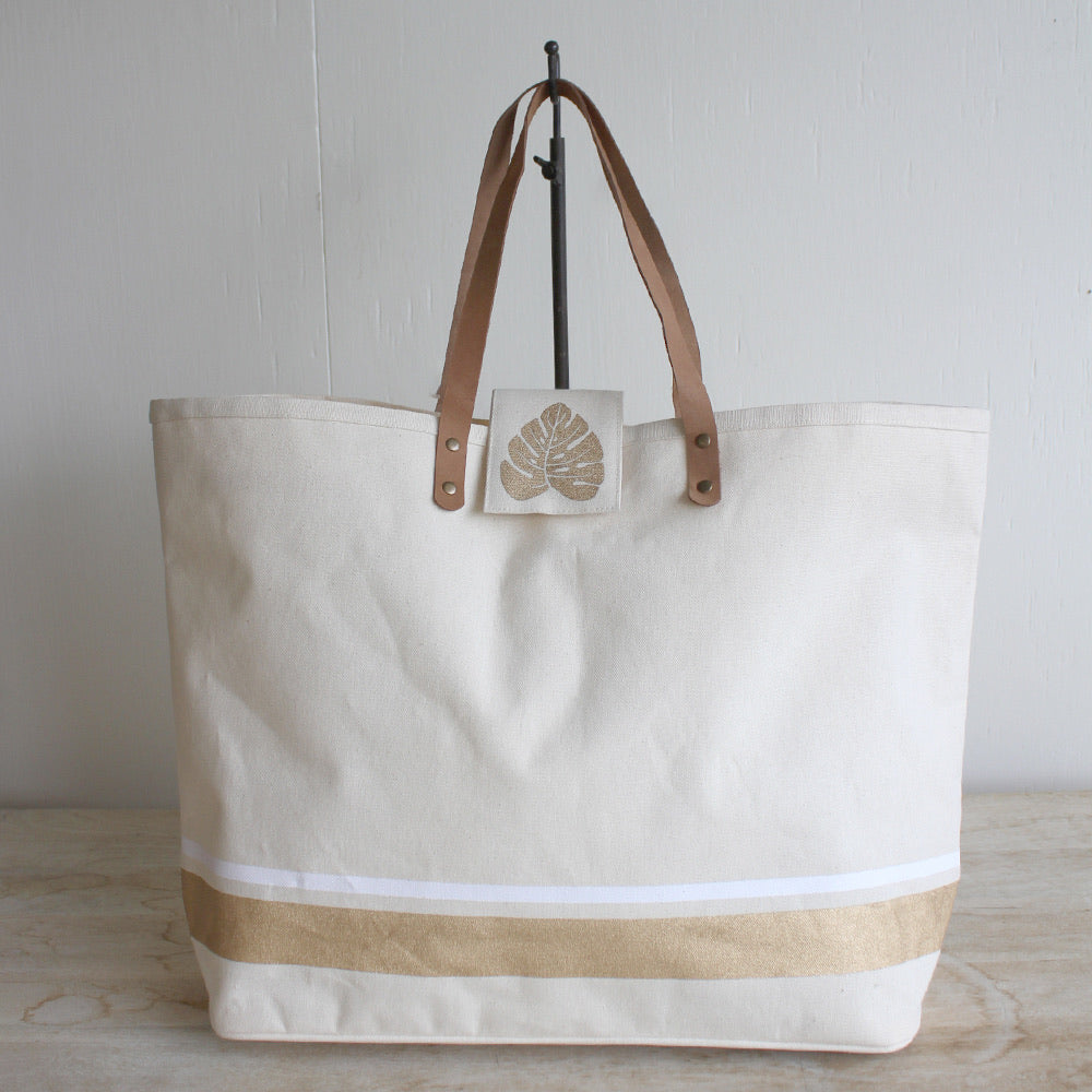 Boca Classic Canvas Bag Nat/Gld