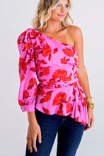 Pink Floral Bow One Shldr Top