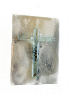 5x7 Glass/Wood Cross