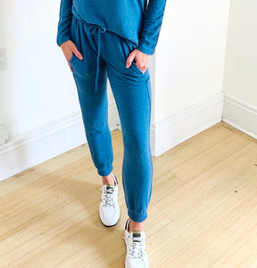 French Blue Soft Jogger Pant