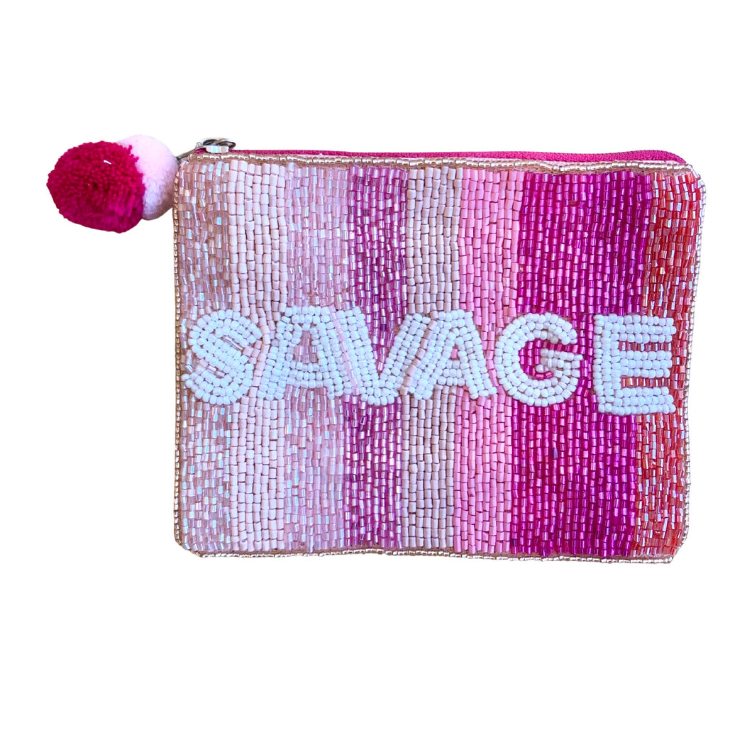 Savage Mini Beaded Pouch
