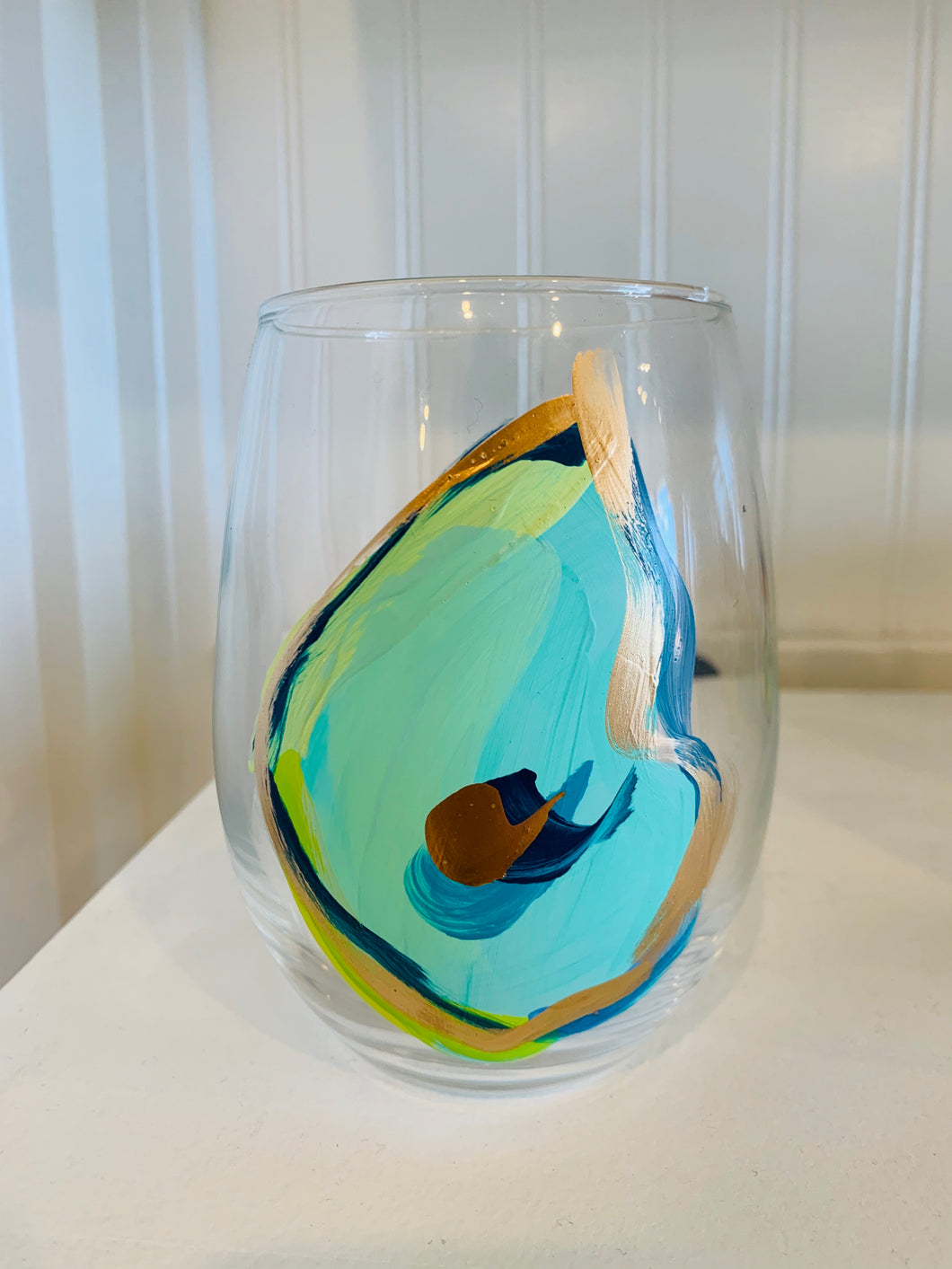 Oyster Blues Glass