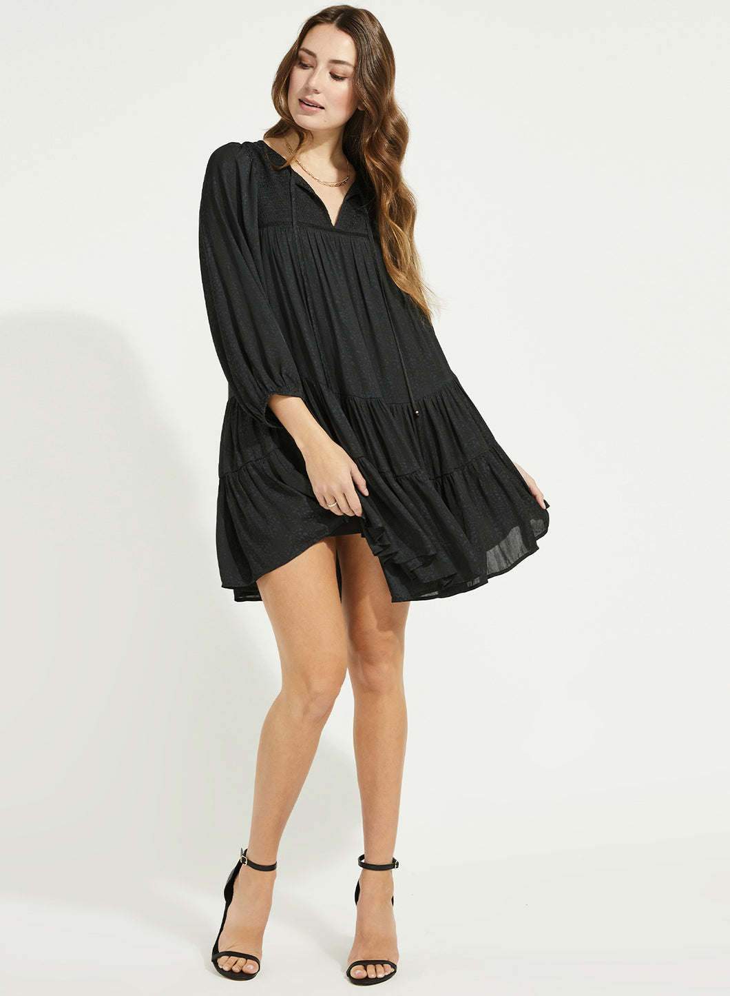 Candece Black Tier Dress