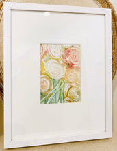 Framed 11x14 Monoprints Floral