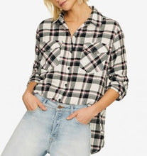Fizz Plaid Boyfriend Shirt