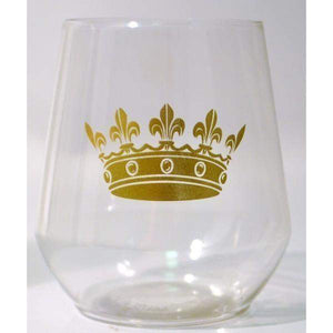 Crown Plastic Stemless Wine Glass