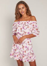Lavender Floral Garden Mini Dress