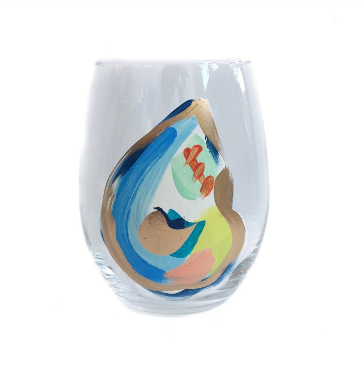 Jazzy Oyster Glass