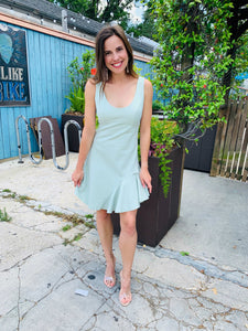 Spearmint Crown Dress