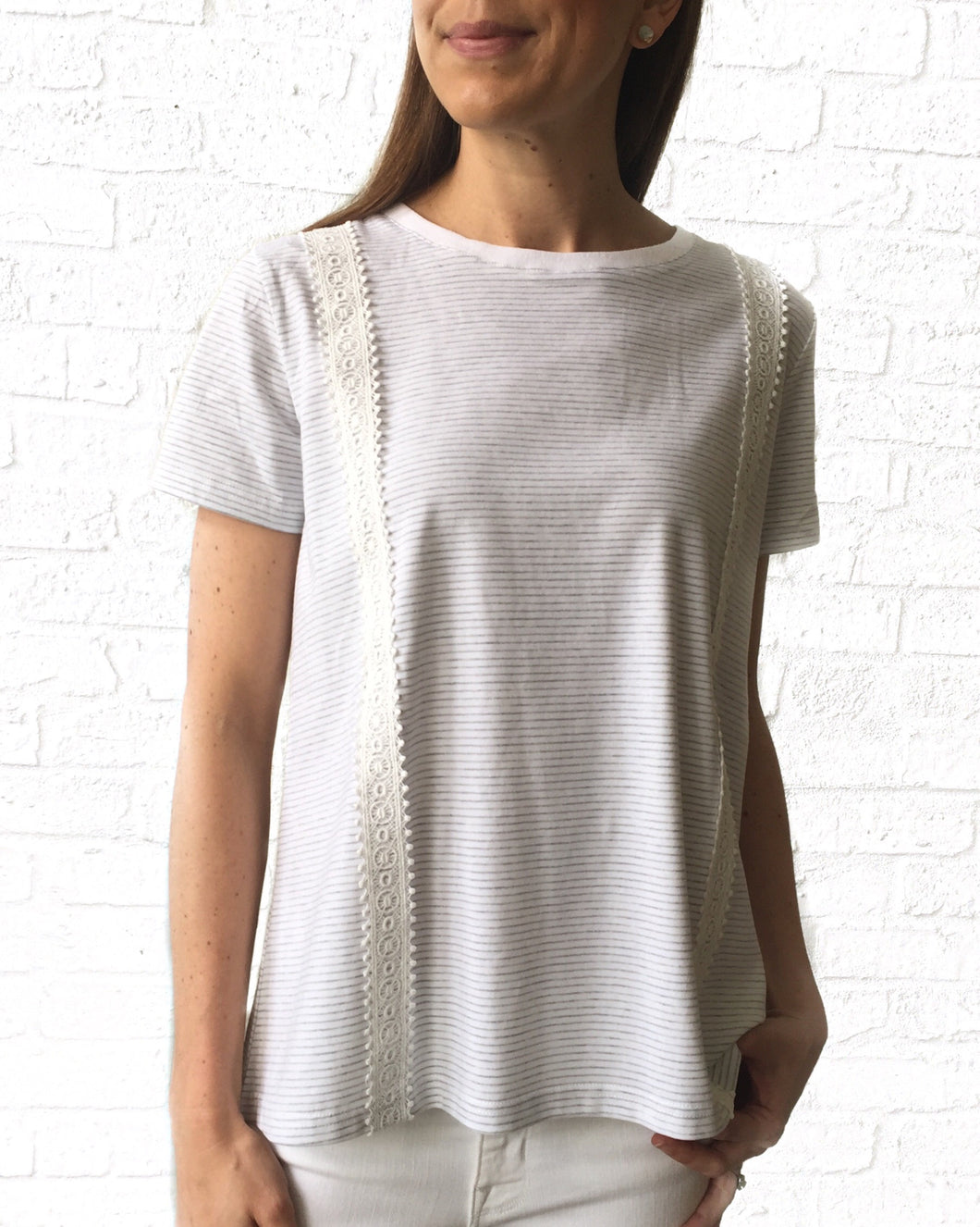 GD The Layla Top-Ivory/Grey