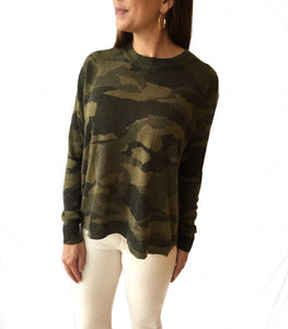 Crewneck Camo Sweater