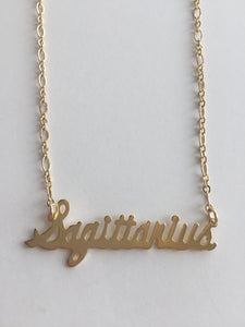 Script Horoscope Necklace