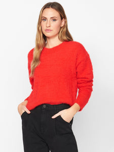 Red Super Soft Popover Sweater