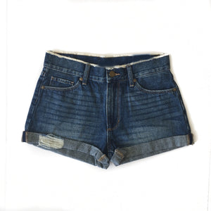 Med. Denim Cuffed Shorts