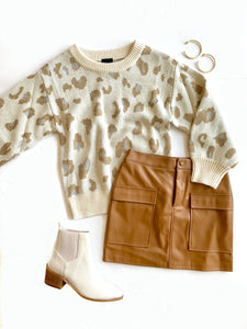 Neutral Animal Sweater