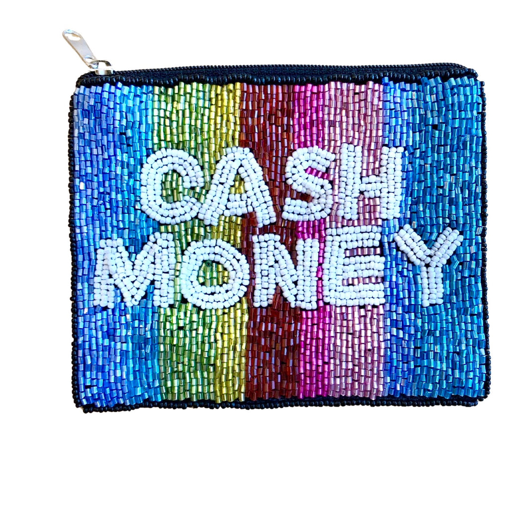 Cash Money Mini Beaded Pouch