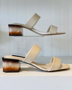Bone Double Strap Heel