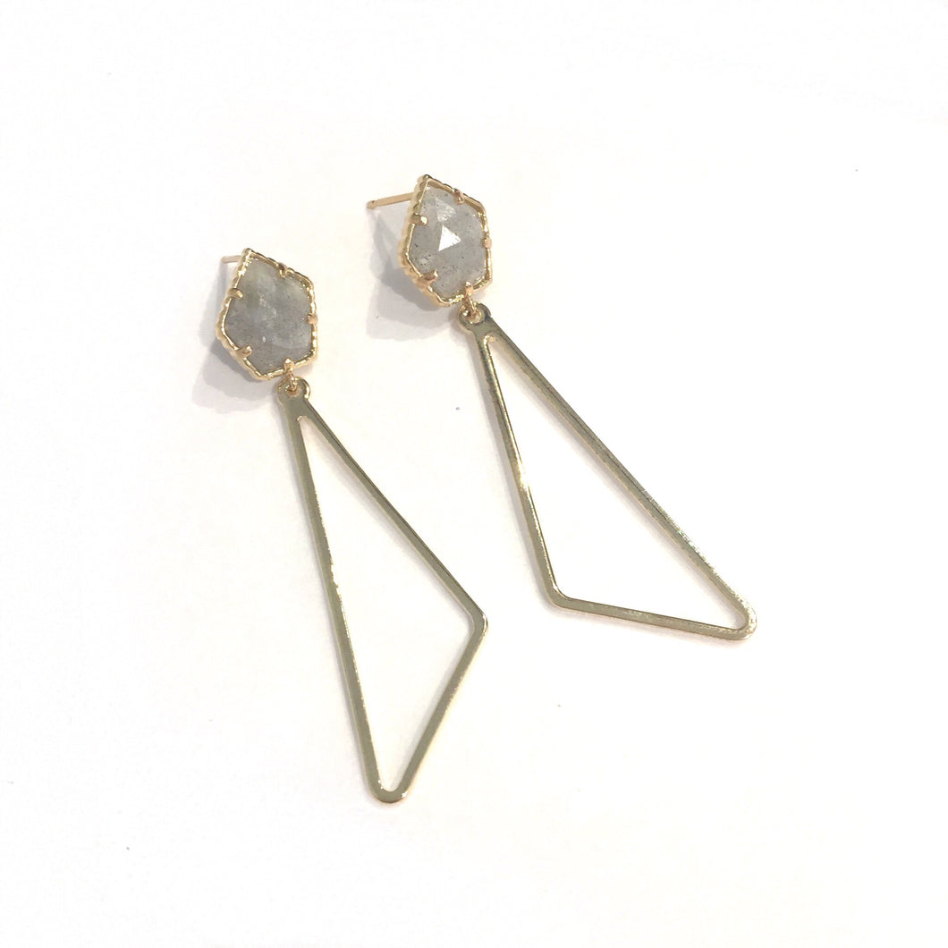 MR Reagan Gld Triangle Drop Earring