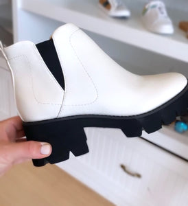 White Lug Sole Bootie