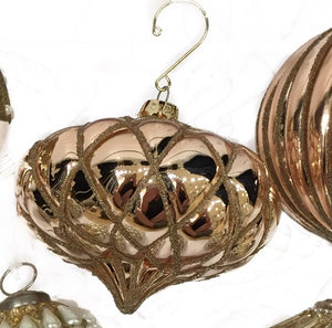 Glass Tufted Onion Ornament