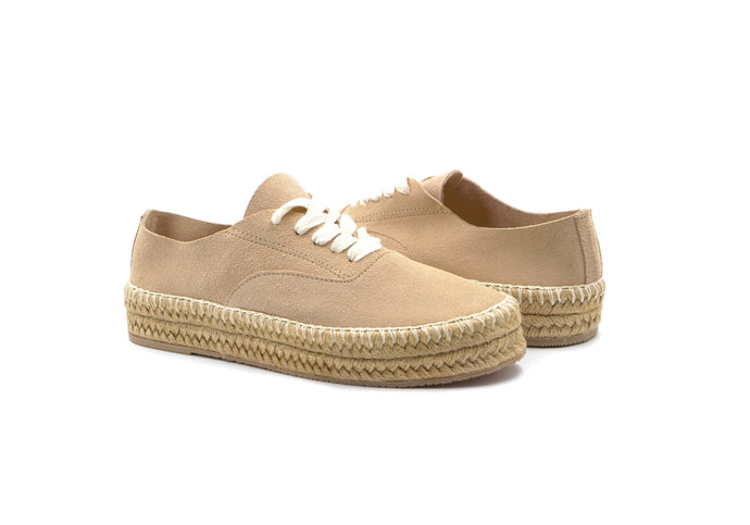 GD- Montauk Lace-Up Espadrille Nude