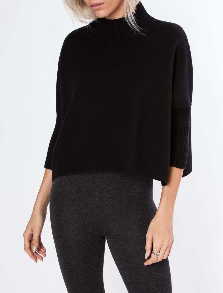 Aja Black Crop Sweater