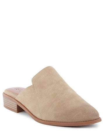 Taupe Vegan Leather Mule