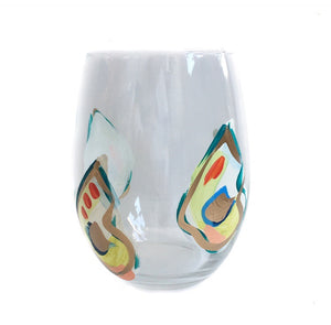 Multi Shell Jazzy Oyster Glass