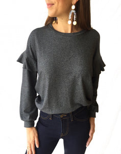 Flutter Shoulder L/S Top