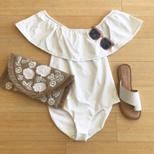 White Off Shldr One Piece