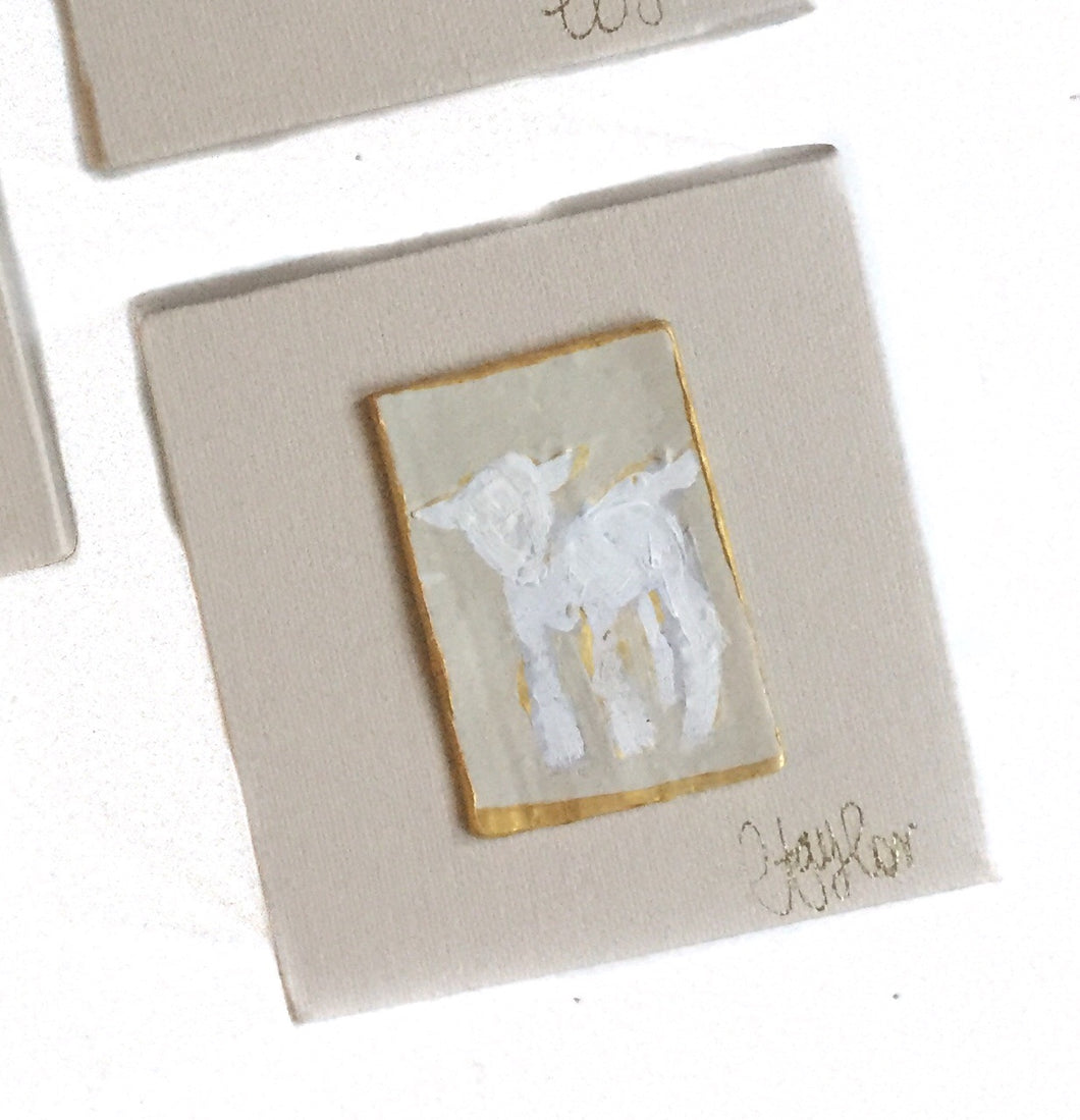 GD-4X4 Cameos on Canvas Lamb