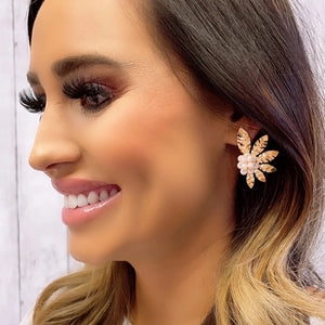 Gold Sarah Nude Earrings