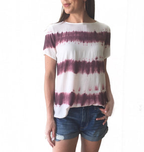 GD Plum Tie Dye Top