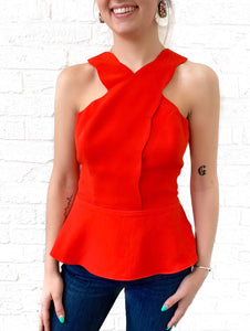 Poppy Scallop Top
