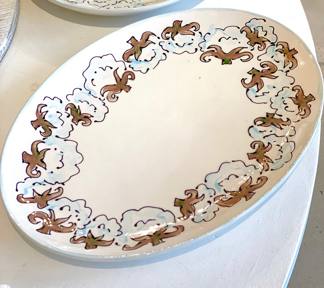 Cotton Oval Platter