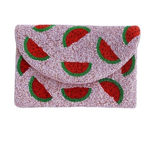 Watermelon Beaded Clutch