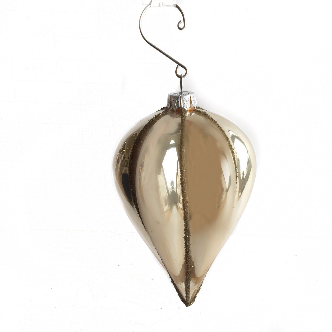 Glass Spindle Drop Ornament