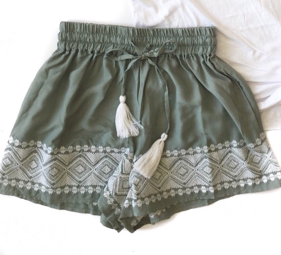 GD Embroidered Tassel Shorts