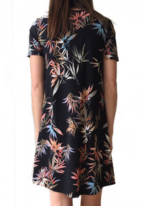 GD S/S Black Tropical Swing Dress
